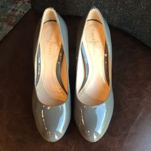 Cole hann patent leather gray 3 1/2 heel